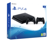SONY PS4 1TB E Chassis Black + 2o Dualshock 4