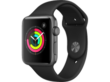 APPLE Watch Series 3 42mm Space Grey με μαύρο sport band