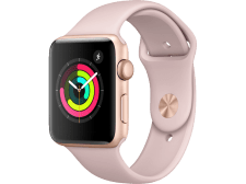 APPLE Watch Series 3 38mm Gold με ροζ sport band