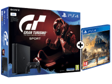 SONY PlayStation 4 1ΤΒ E Chassis + Gran Turismo Sport + Assassin's Creed Origins