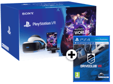 SONY PlayStation VR Headset and Camera V2 and VR Worlds and DriveClub