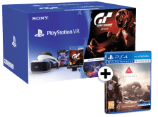 SONY PlayStation VR Headset and Camera V2 and VR Worlds and Gran Turismo Sport and Farpoint VR