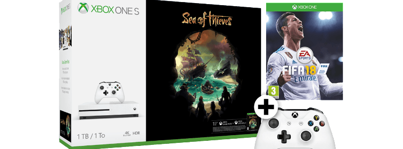 MICROSOFT Xbox One S 1TB Sea of Thieves and FIFA 18 and Controller