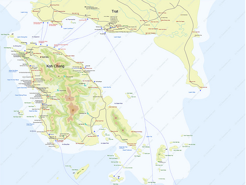 Koh Chang map