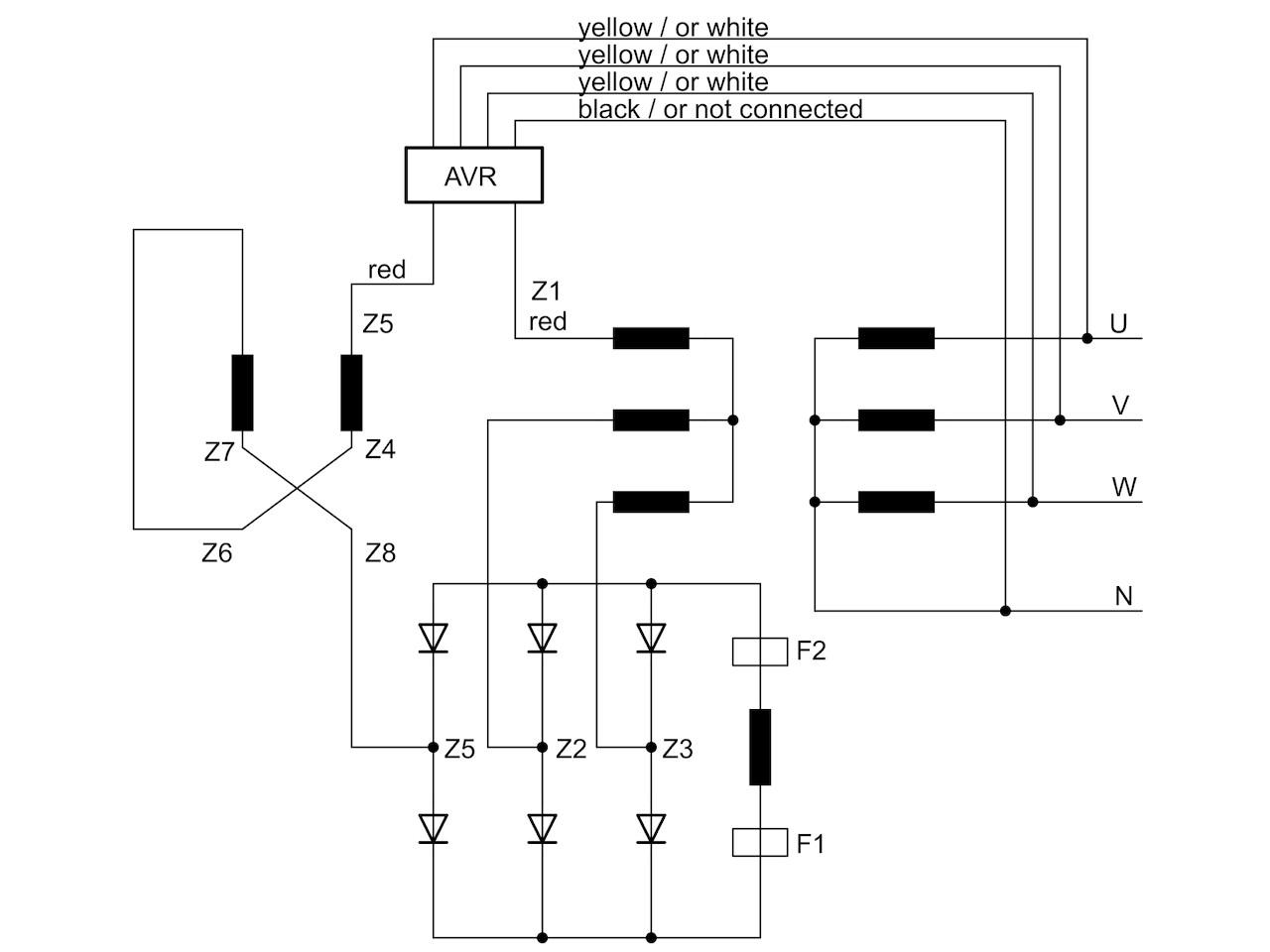 Spannungsregler Avr Zu 3 Phasige 400v Stc Generatoren 5