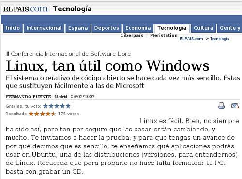 Linux en El País