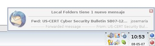 Notificador en thunderbird 2