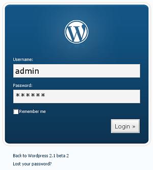 Login en la nueva beta de wordpress