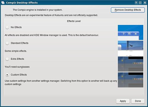 Desktop Effects en Kubuntu Hardy Heron