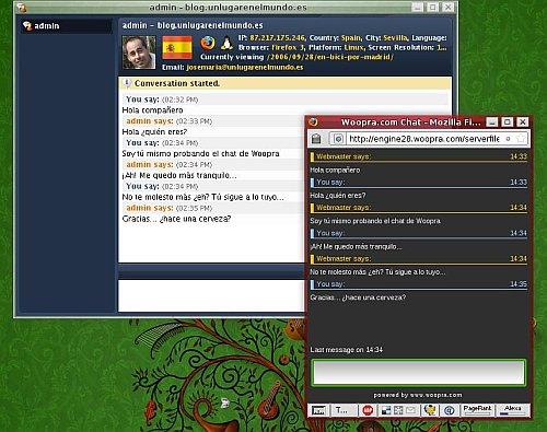 chateando con los visitantes de tu blog con woopra