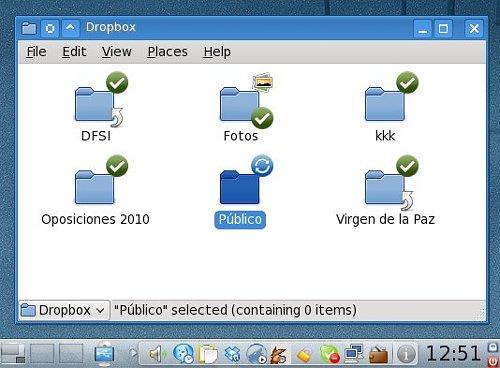 Cliente de escritorio de Dropbox en KDE4