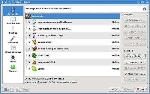 Kopete y Skype integrados