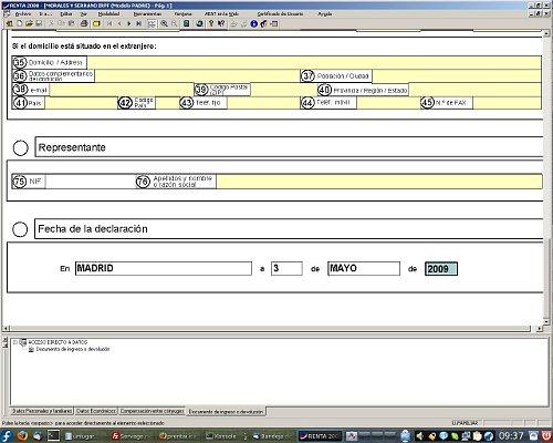 El programa padre en Fedora 11