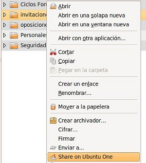 Compartiendo carpetas con el cliente de escritorio de Ubuntu One