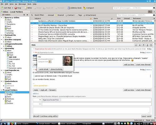 Thunderbird 3.3 alpha 1 (Miramar) con el plugin Conversations