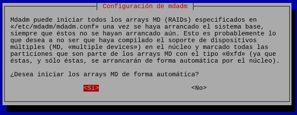 Instalación de mdadm en Debian Linux
