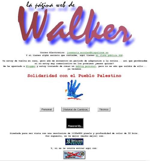 La web de walker toma 2