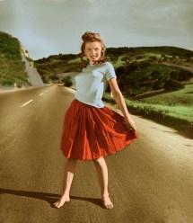Hit Brakes Marilyn Monroe Standing In