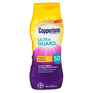 Coppertone Ultra Guard Sunscreen Lotion, SPF 50- 8 fl oz