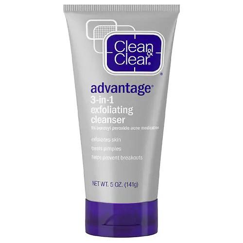 Clean & Clear Advantage 3-in-1 Exfoliating Cleanser - 5 oz