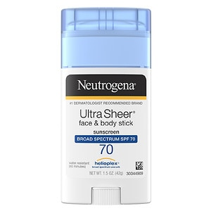 Neutrogena UltraSheer Face & Body Stick Sunscreen, SPF 70