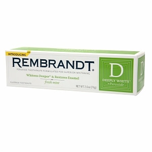Rembrandt Deeply White + Peroxide Whitening Toothpaste ...