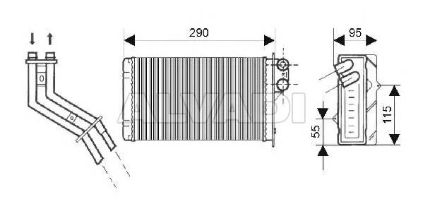 Soojendusradiaator 7701204992 mudelile RENAULT MEGANE