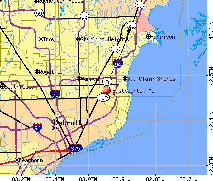 Eastpointe Michigan Mi 48021 48066 Profile Population