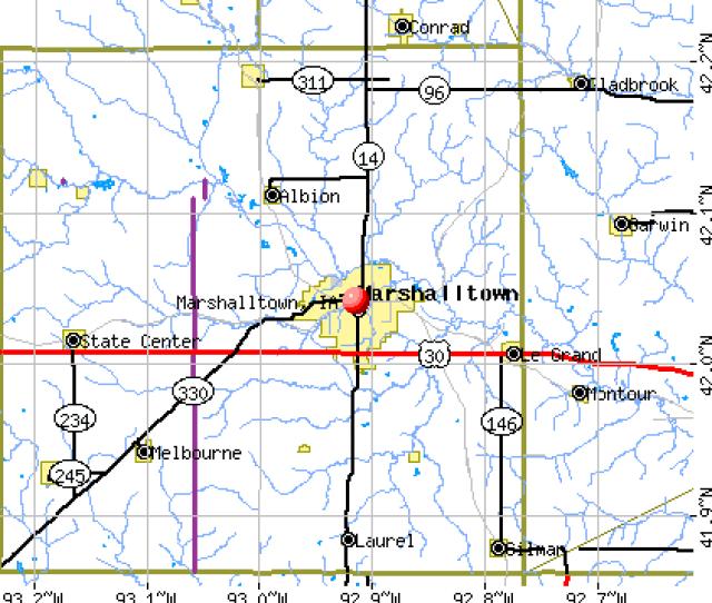 Marshalltown Ia Map