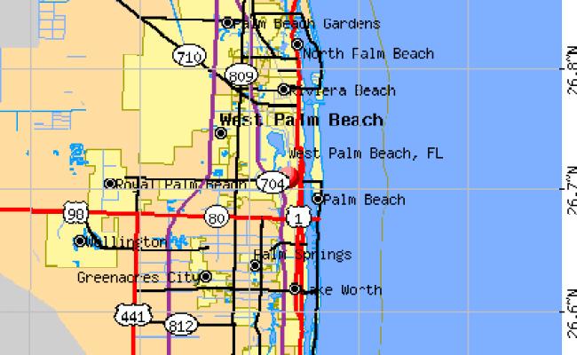 West Palm Beach Florida Fl 33401 33405 Profile Population Maps Real Estate Averages