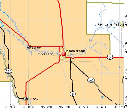 Crookston Minnesota MN 56716 profile population maps