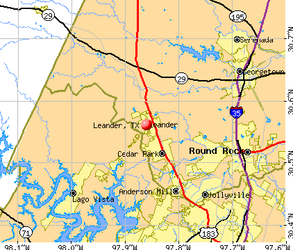 Leander Texas TX 78641 profile population maps real