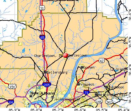 Charlestown Indiana Map | Zip Code Map