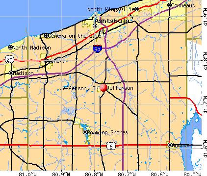 Jefferson Ohio (OH 44047) profile: population maps real ...