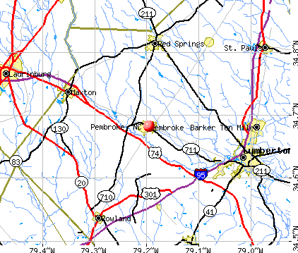 Pembroke North Carolina (NC 28372) profile: population ...