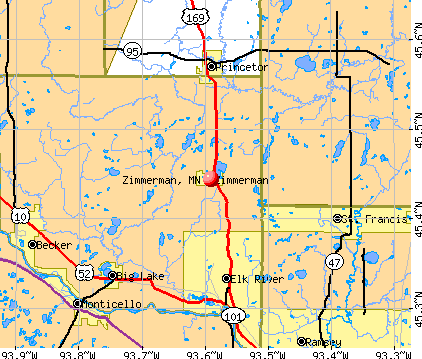 Zimmerman Minnesota MN 55398 profile population maps