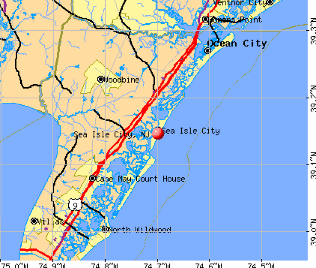 Sea Isle City Nj Map