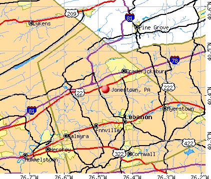 Jonestown Pa Map