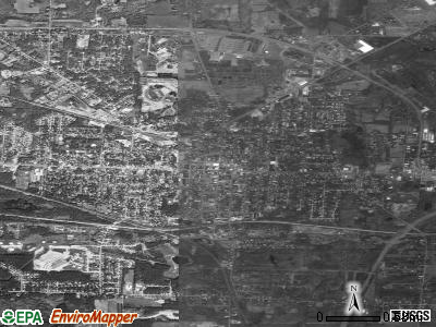 Ravenna satellite photo by USGS. Nearest city with pop.