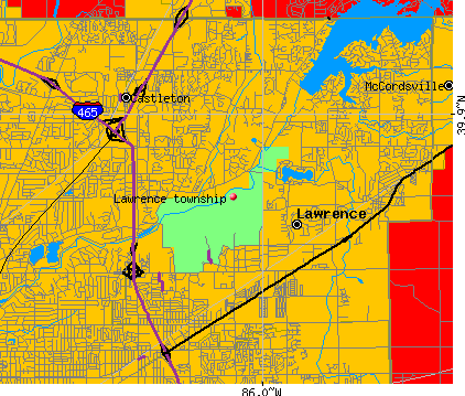 Lawrence township Marion County Indiana IN Detailed