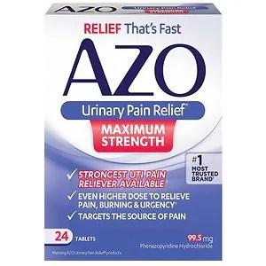 AZO Urinary Pain Relief Tablets Maximum Strength ...
