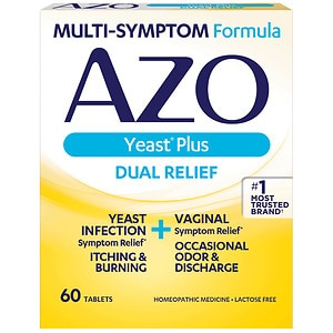 AZO Yeast, Natural Symptom Prevention & Relief, 400mg, Tablets