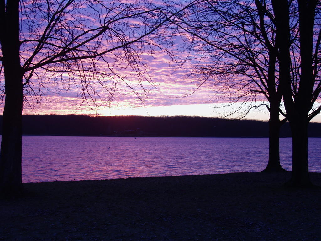 Westerville OH  Fall Sunrise on Hoover Reservoir in Westerville OH photo picture image