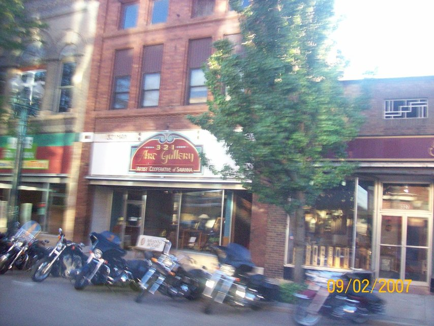 Savanna IL  Along Chicago Avenue 52 or 64 I believe Motorcyclists in the spring and summer