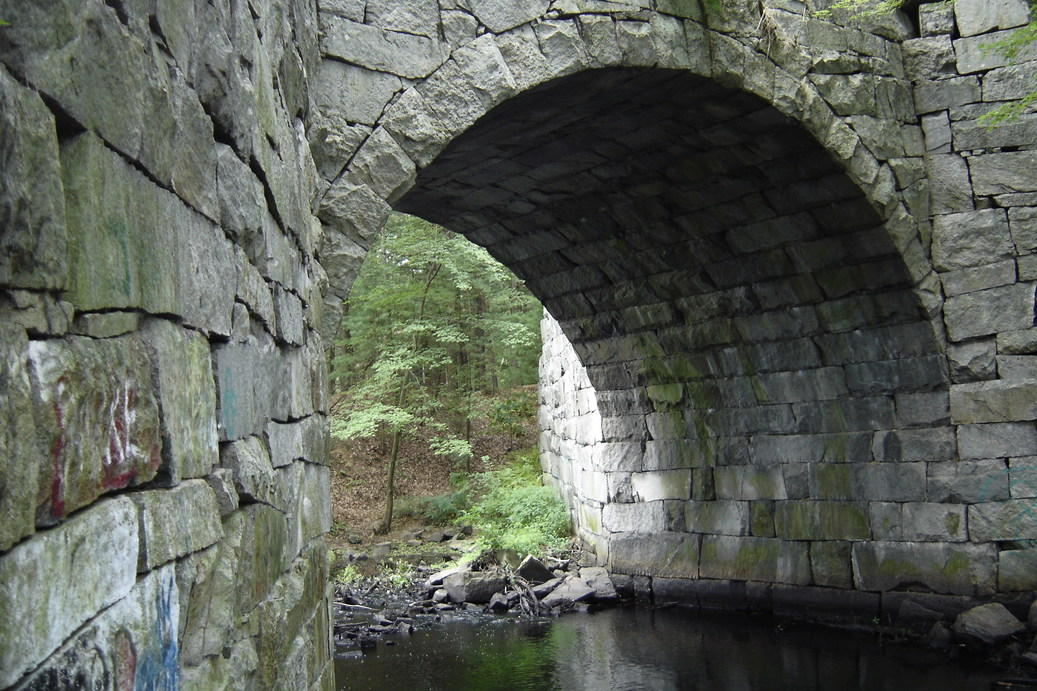 Westford Ma The Dry Fit Stone Bridge On The Old Electric Trolley Line Now A Trail Photo