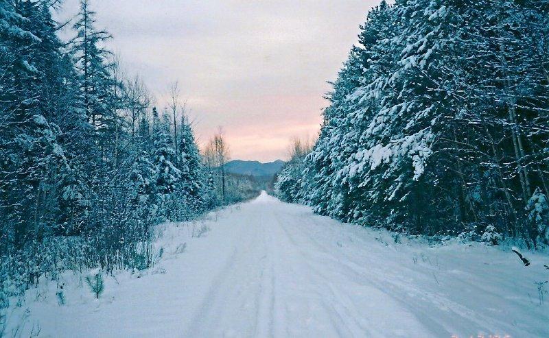 Saranac Lake, NY: Adirondack Scenic Railroad in the winter