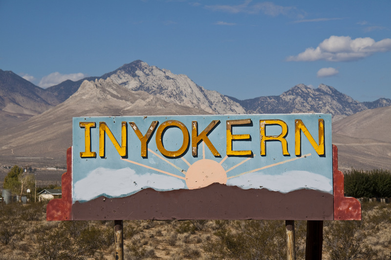 Inyokern CA  Road sign on S Brown Road photo picture image California at citydatacom