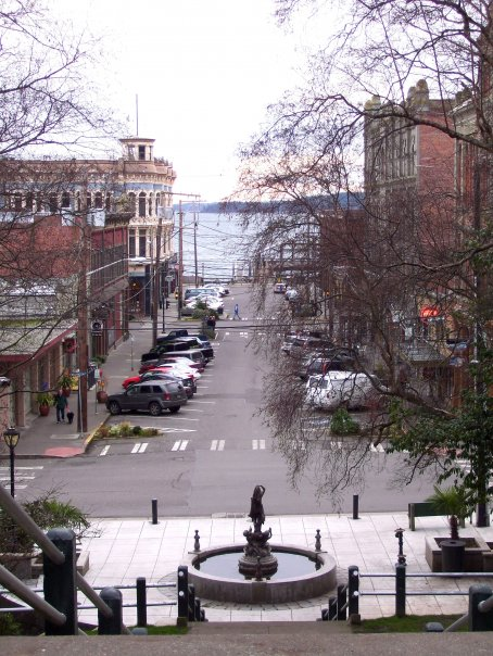 Port Townsend WA  View of downtown Port Townsend and