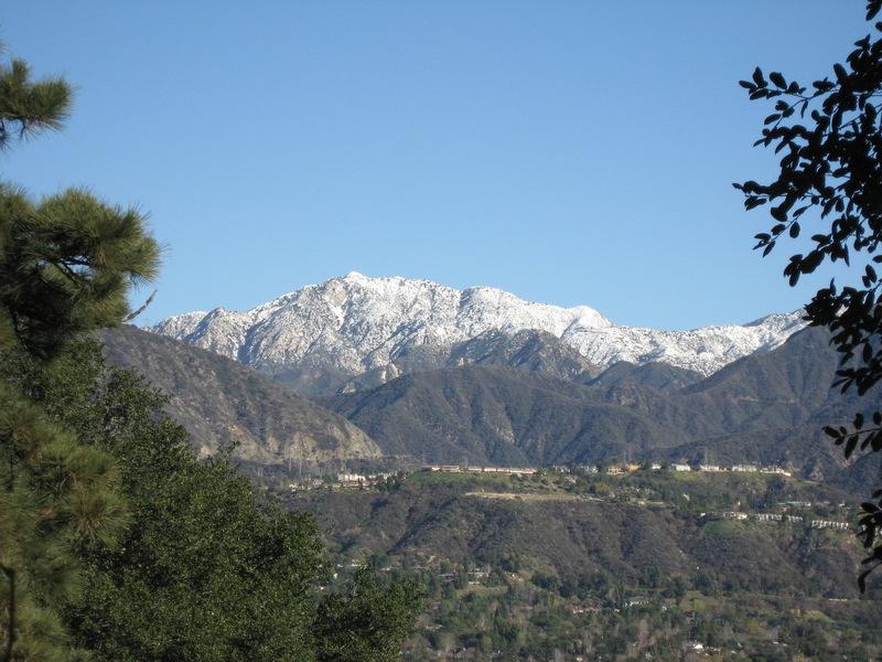 La Canada Flintridge CA  View of the San Gabriels from Flintridge Circle photo picture image