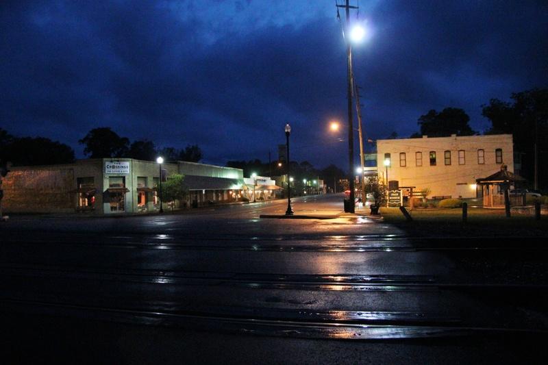 Folkston GA  A rainy spring night in Folkston Ga photo